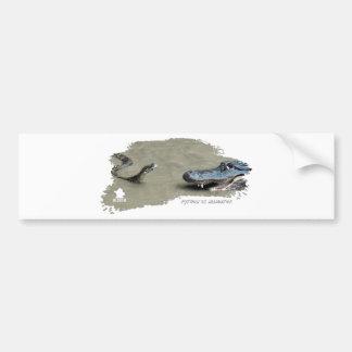 Python vs Alligator 01 Car Bumper Sticker