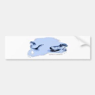 Python vs Alligator Blue 01 Bumper Stickers