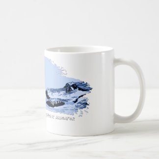 Python vs Alligator Blue 01 Coffee Mugs