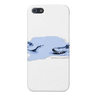 Python vs Alligator Blue 01 iPhone 5 Cases