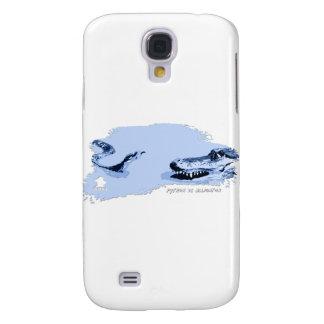 Python vs Alligator Blue 01 Samsung Galaxy S4 Case
