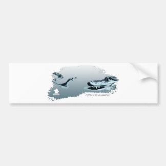 Python vs Alligator blue 02 Bumper Sticker