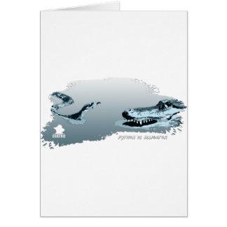 Python vs Alligator blue 02 Cards