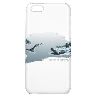 Python vs Alligator blue 02 iPhone 5C Cases
