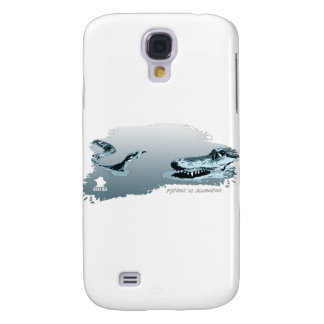 Python vs Alligator blue 02 Samsung Galaxy S4 Case