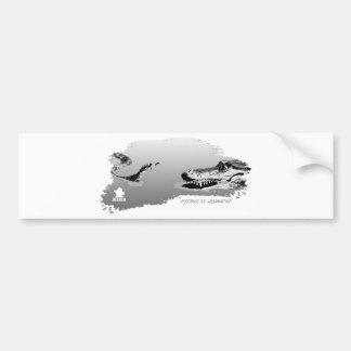 Python vs Alligator grey 01 Bumper Stickers