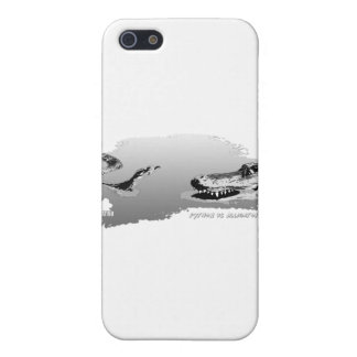 Python vs Alligator grey 01 iPhone 5 Cover