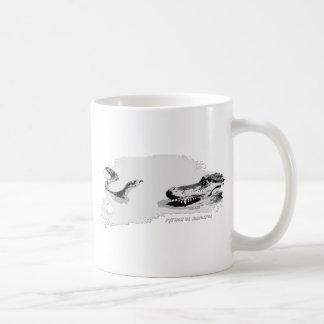 Python vs Alligator grey 02 Coffee Mugs