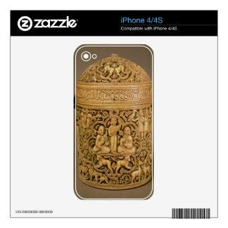 Pyx con el alivio que representa los placeres de c calcomanías para el iPhone 4