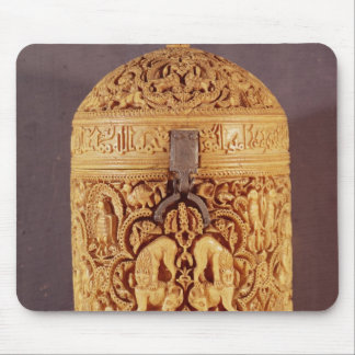 Pyx with a relief depicting the pleasures mouse pad