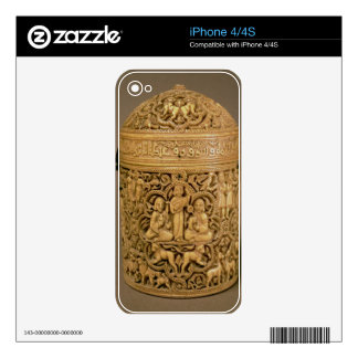 Pyx with relief depicting the pleasures of courtly decals for iPhone 4