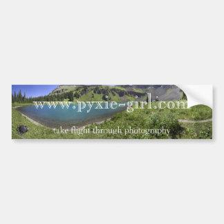 pyxie photography blue lakes image bumper sticker