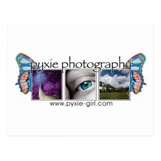 pyxie photography image logo postcard