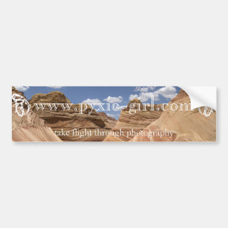 pyxie photography the wave image bumper sticker