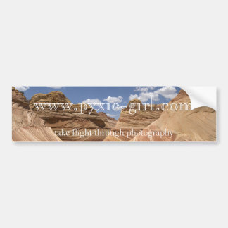 pyxie photography the wave imahe bumper sticker
