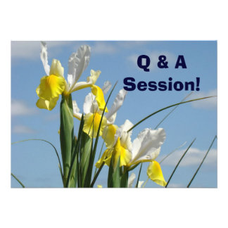 Q&A Sesstion Meetings Events Conference Cards Announcement