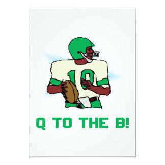 """Q al B Invitación 5"""" X 7"""""""