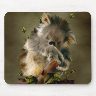 Q Bear Two Mouse Pad