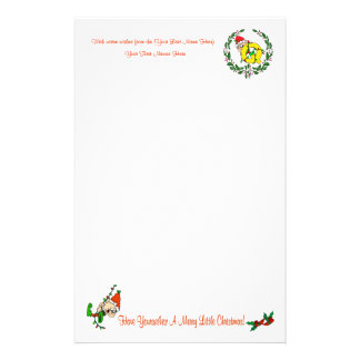 Q - CHRISTMAS ELF MONOGRAM STATIONERY