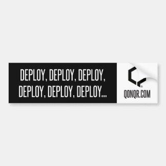 Q Deploy Deploy Car Bumper Sticker