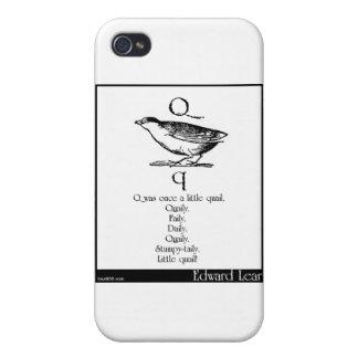 Q era una vez una pequeña codorniz iPhone 4 fundas