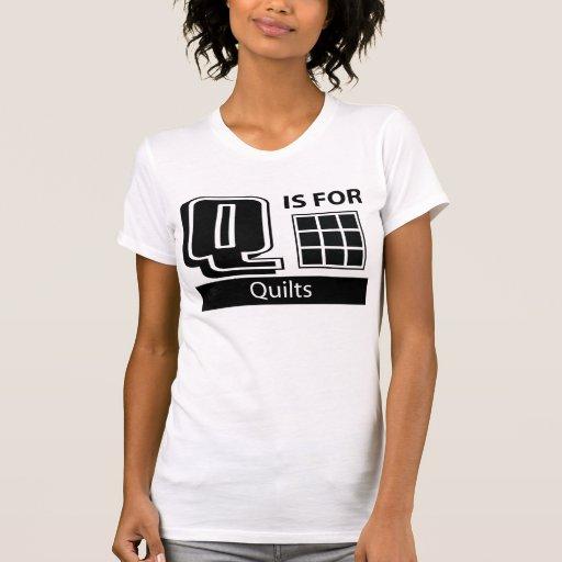 Q está para los edredones camiseta