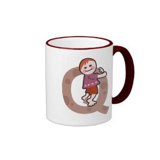Q is for..... ringer coffee mug