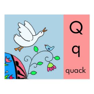 Q is for Quack Postcard