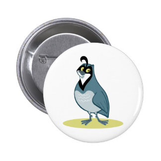 Q is for Quail 2 Inch Round Button