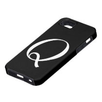 Q Monogram Black IPhone 5 Case