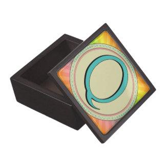 Q MONOGRAM LETTER PREMIUM TRINKET BOXES