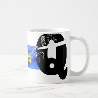 Q Monogram Typographic Grunge Mug