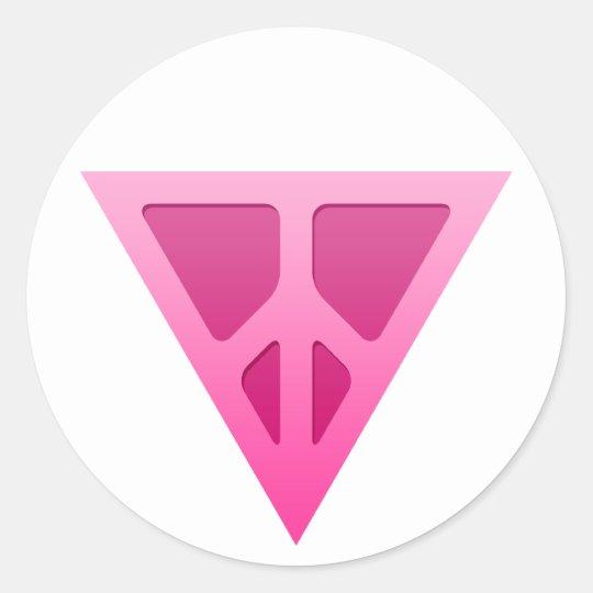 Q-Peace Triangle Round Sticker