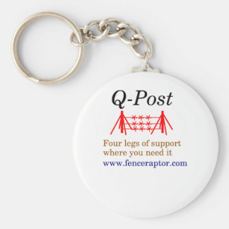 Q-post Key chain with colored text, logo and URL