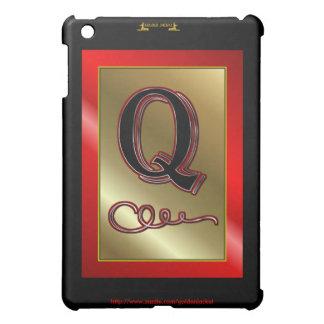 """""""Q"""" q Monogram Letter Q Initial surname christian iPad Mini Cases"""