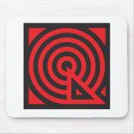 Q red black mousepad