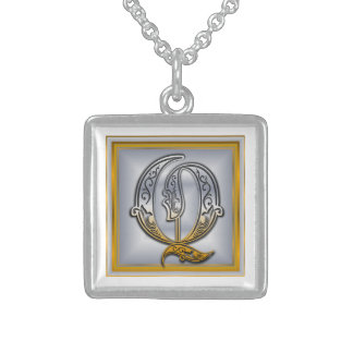 Q Royal Initial Monogram Necklace