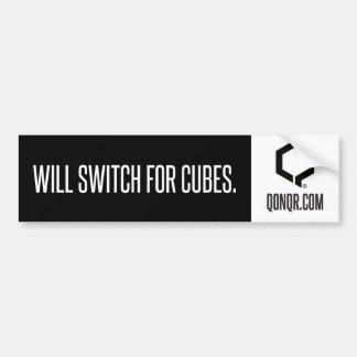 Q Switch for Cubes Bumper Sticker