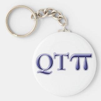 Q T Pi Basic Round Button Keychain