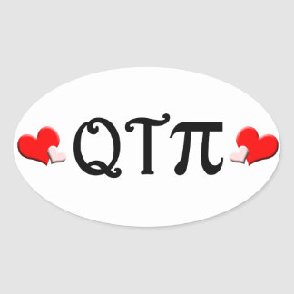 Q T Pi Oval Sticker
