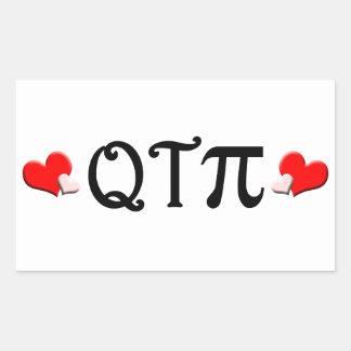 Q T pi Pegatina Rectangular