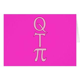 Q T Pi Products Card