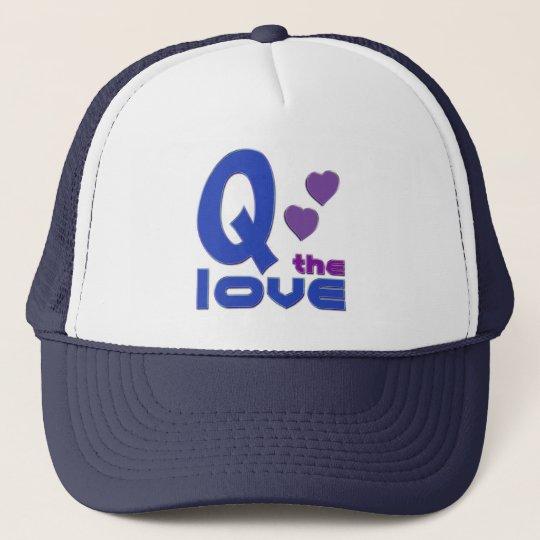 Q the Love Trucker Hat