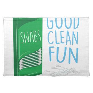 Q-tip Clean Fun Placemat