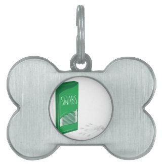 Q-tip Swabs Pet ID Tag