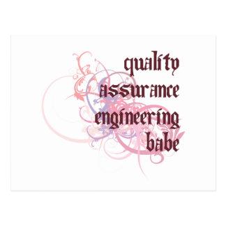 QA Engineering Babe Postcard