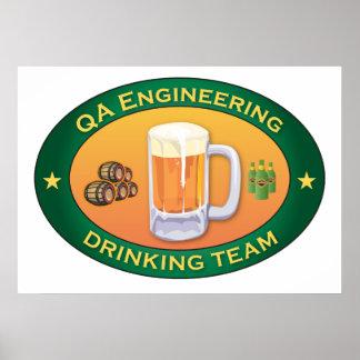 QA Engineering Drinking Team Poster
