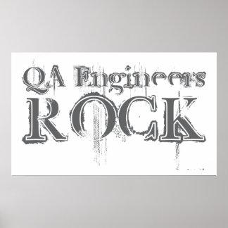 QA Engineers Rock Poster