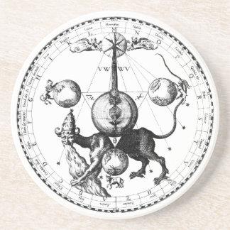 Qabalah Mandala Drink Coaster