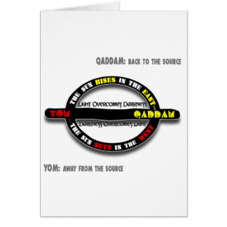 Qaddam vs Yom Greeting Card